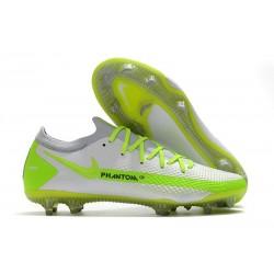 Nike Phantom GT Elite FG Soccer Boots White Green