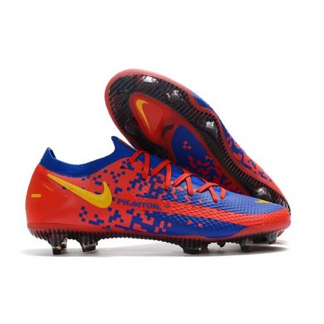 Nike Phantom GT Elite FG Soccer Boots Crimson Blue Yellow
