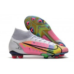 Nike Mercurial Superfly 8 Elite FG Cleats White Pink Black