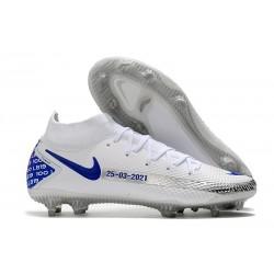 Nike Phantom GT Elite Dynamic Fit FG Boots White Blue Black