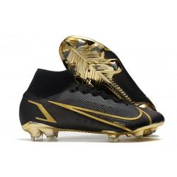 Nike Mercurial Superfly 8 Elite FG Cleats Black Gold