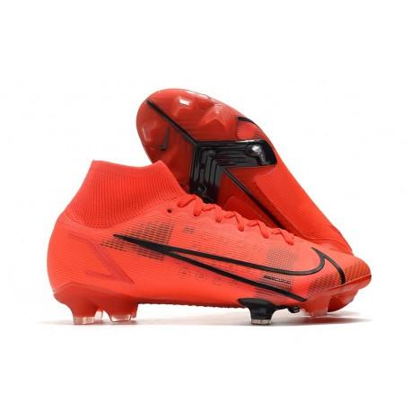 Nike Mercurial Superfly 8 Elite FG Cleats Red Black