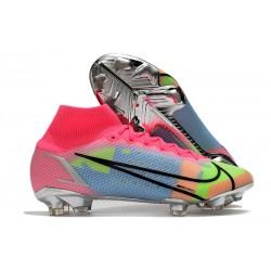 Nike Mercurial Superfly VIII Elite FG Pink Blue Yellow