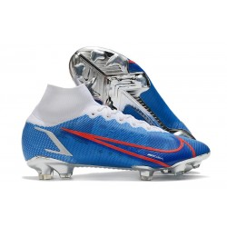 Nike Mercurial Superfly 8 Elite FG Cleats Blue White Red