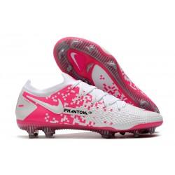 Nike Phantom GT Elite FG Cleat White Pink