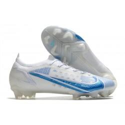 New Nike Mercurial Vapor XIV Elite FG White Blue