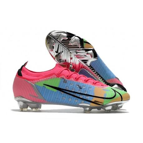 New Nike Mercurial Vapor XIV Elite FG Pink Green Blue
