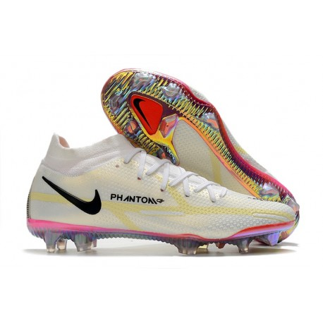 Nike Phantom Generative Texture II Elite DF FG White Black Bright Crimson Pink Blast