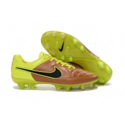Nike Tiempo Legend V FG Kangaroo Leather Soccer Cleats Canvas Black Volt