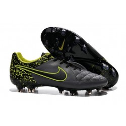 Nike Tiempo Legend V FG Kangaroo Leather Soccer Cleats Grey Black