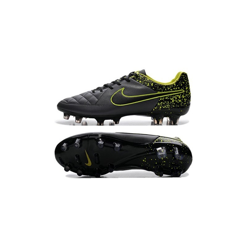 fc02561cb34d Nike Tiempo Legend V FG Kangaroo Leather Soccer Cleats Grey Black