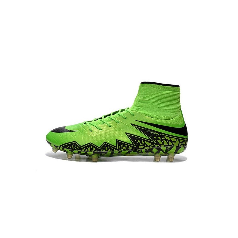 Nike Hypervenom Phantom II FG Firm Ground Soccer Cleats Green Black 973c2bed8