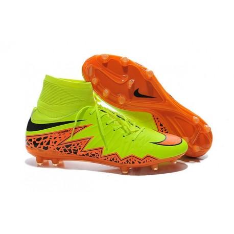 Nike Hypervenom Phantom II FG Firm Ground Soccer Cleats Yellow Orange Black