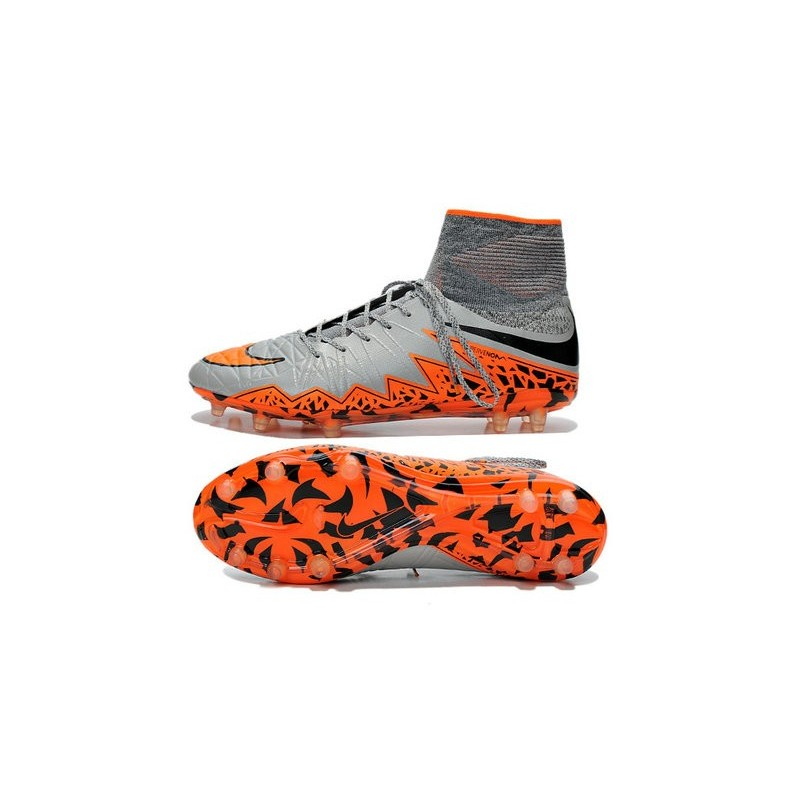 7b171cc0c ... nike hypervenom phantom ii fg firm ground soccer cleats grey orange  black