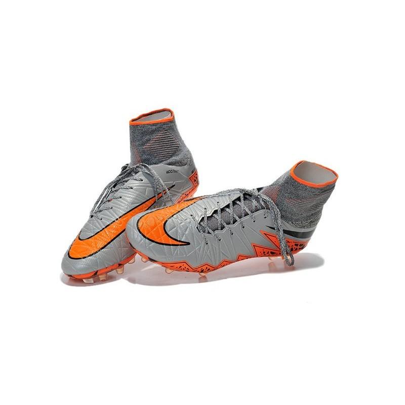 Nike Hypervenom Phantom II FG Firm Ground Soccer Cleats Grey