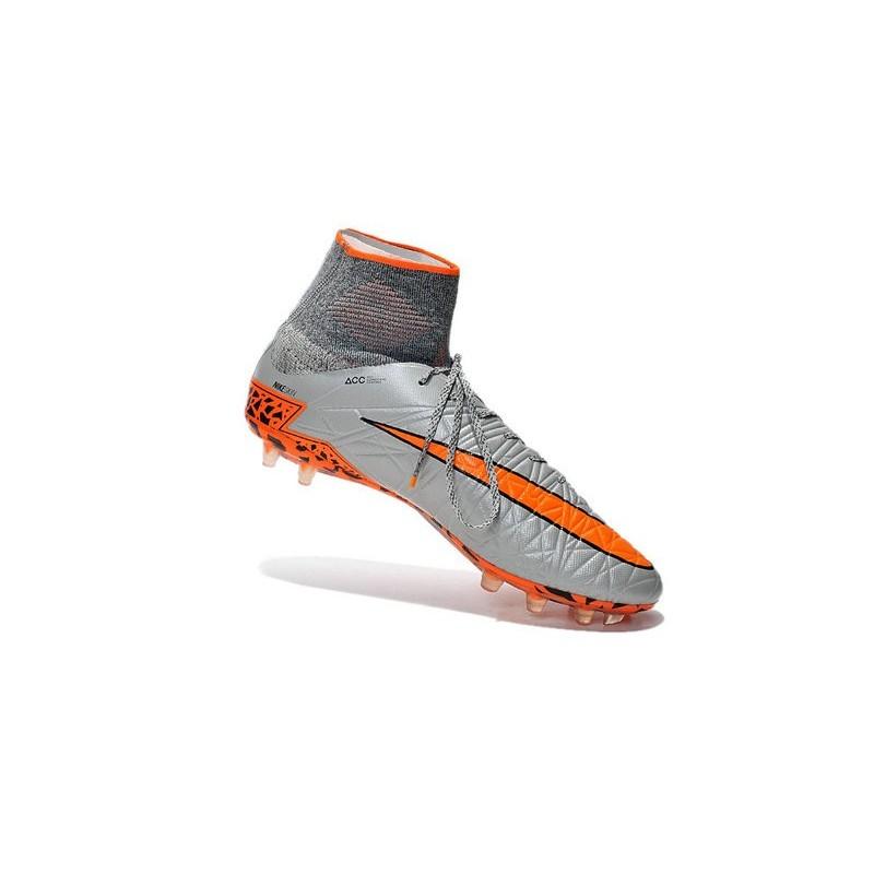 bd8c553accb7 Nike Hypervenom Phantom II FG Firm Ground Soccer Cleats Grey Orange Black
