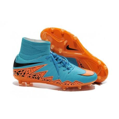 Nike Hypervenom Phantom II FG Firm Ground Soccer Cleats Blue Orange Black
