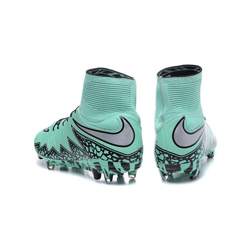 get cheap a4d2c 12765 Nike Hypervenom Phantom II FG Firm Ground Soccer Cleats Green Silver Black