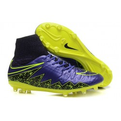 Nike Hypervenom Phantom II FG Firm Ground Soccer Cleats Purple Yellow