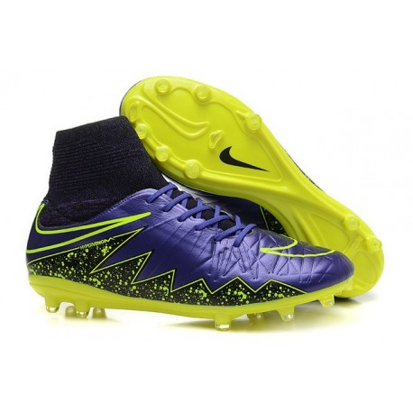 5af82227f Nike Hypervenom Phantom II FG Firm Ground Soccer Cleats Purple Yellow