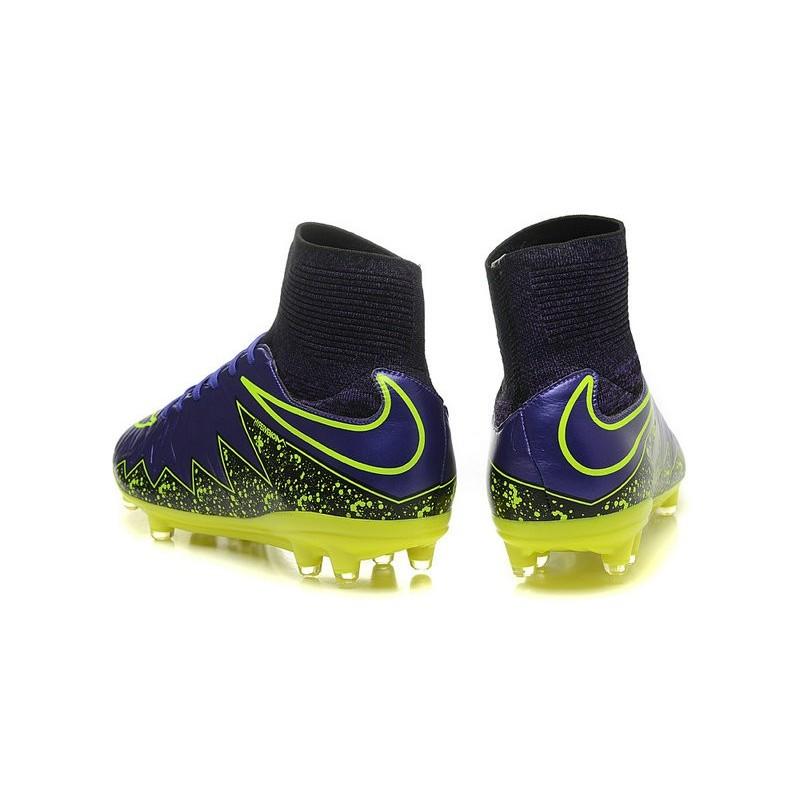 7eba7dfe224d Nike Hypervenom Phantom II FG Firm Ground Soccer Cleats Purple Yellow
