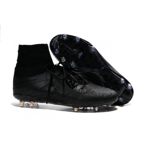 Nike Hypervenom Phantom II FG Firm Ground Soccer Cleats All Black