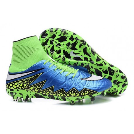 New Neymar Nike Hypervenom Phantom 2 FG Football Boots Blue Green White