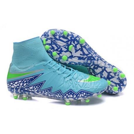 New Neymar Nike Hypervenom Phantom 2 FG Football Boots Blue Purple