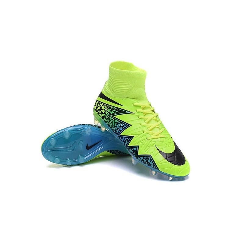 New Neymar Nike Hypervenom Phantom 2 FG Football Boots Green Blue Black 82d17f79a
