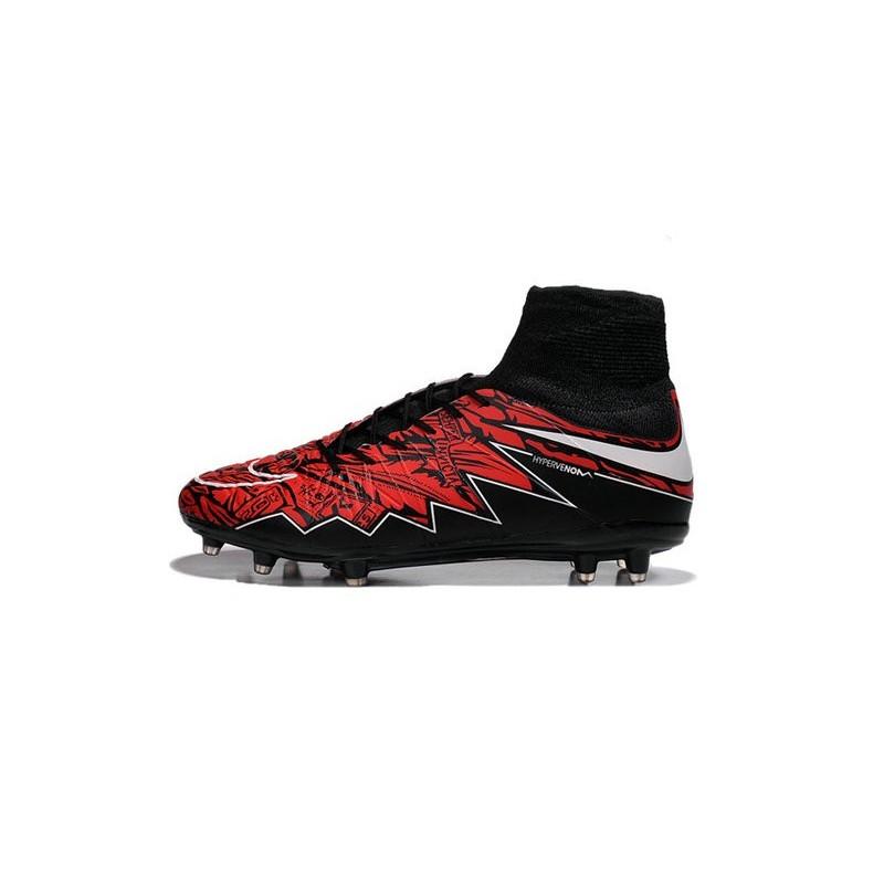 cheap for discount 7d736 55f8b New Robert Lewandowski Nike Hypervenom Phantom 2 FG Football Boots Black Red