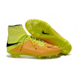 New Neymar Nike Hypervenom Phantom 2 FG Football Boots Leather Yellow Black