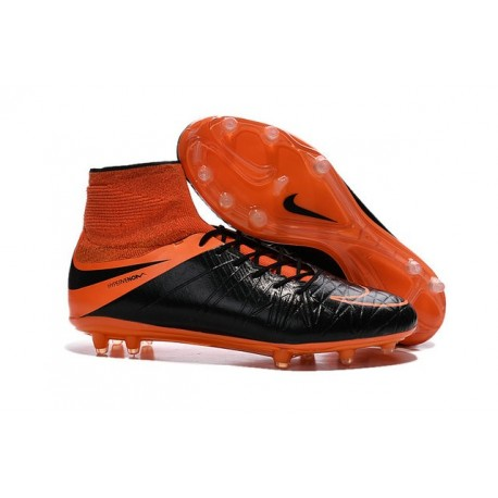 New Neymar Nike Hypervenom Phantom 2 FG Football Boots Leather Orange Black