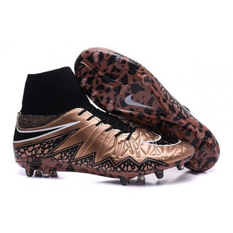 Nike Hypervenom Phantom II FG 2016 Mens Soccer Shoes Bronze Black