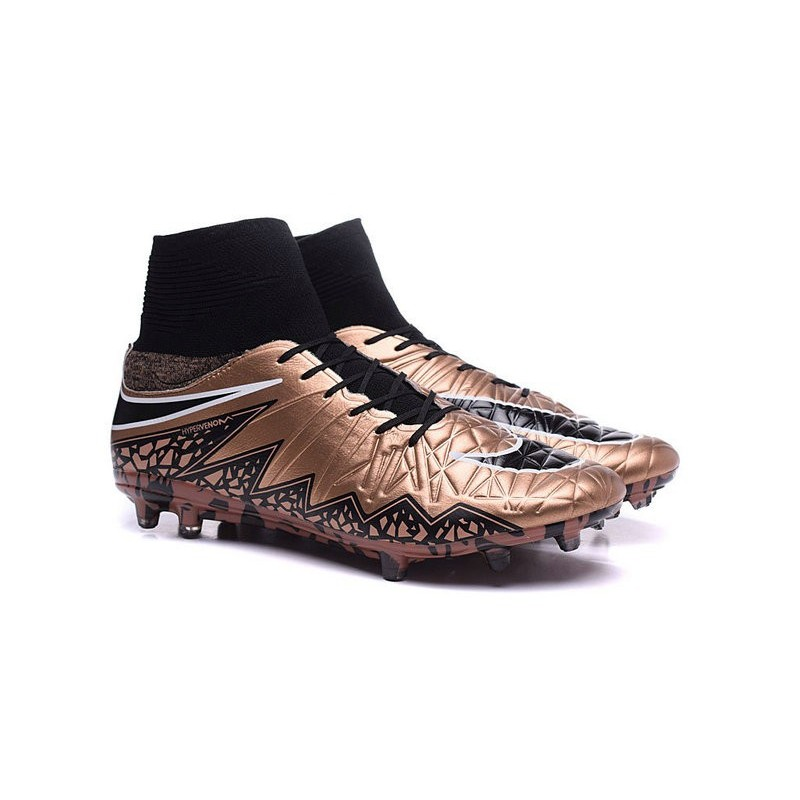 d7b2324215f3 Nike Hypervenom Phantom II FG 2016 Mens Soccer Shoes Bronze Black