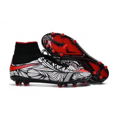 Nike Hypervenom Phantom II FG 2016 Mens Soccer Shoes Black Red White