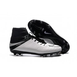 Nike Hypervenom Phantom II FG 2016 Mens Soccer Shoes Leather White Black
