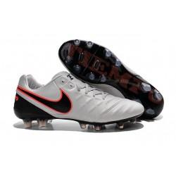 Nike Tiempo Legend VI K-leather ACC FG Soccer Boots Platinum Silver Black