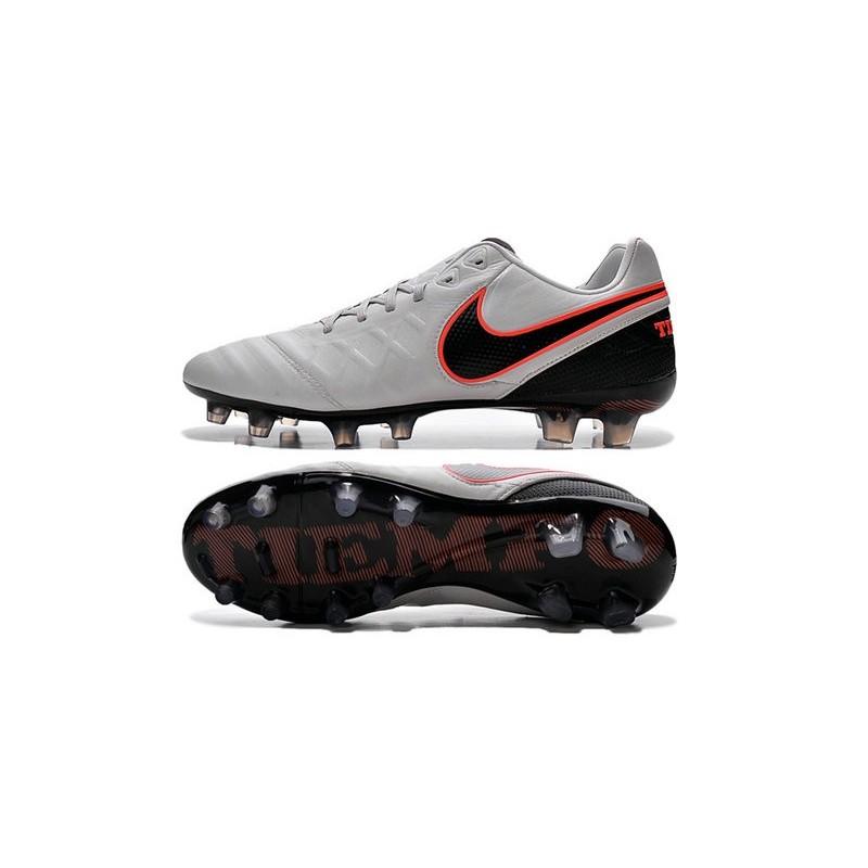 san francisco 5f02e 33c32 Nike Tiempo Legend VI K-leather ACC FG Soccer Boots Platinum Silver Black