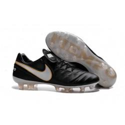 Nike Tiempo Legend VI K-leather ACC FG Soccer Boots in Black White