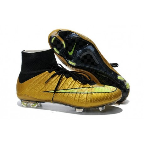 sneakers for cheap b6655 627a6 Nike Mercurial Superfly IV FG Mens Football Shoes Golden Volt