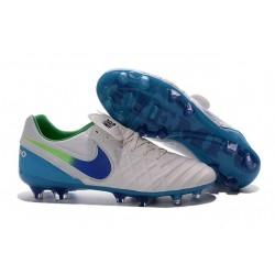 Nike Tiempo Legend VI K-leather ACC FG Soccer Boots White Blue