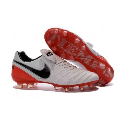 Nike Tiempo Legend VI K-leather ACC FG Soccer Boots White Red Black