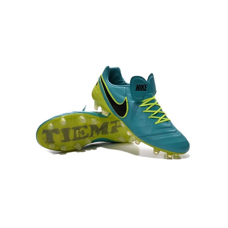 Nike Tiempo Legend VI K-leather ACC FG Soccer Boots Jade Black
