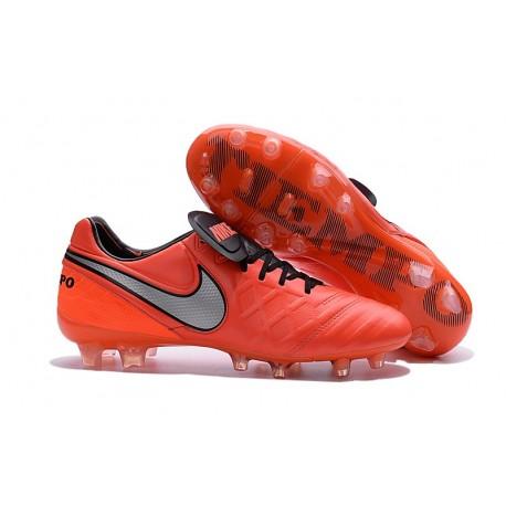 Nike Tiempo Legend VI K-leather ACC FG Soccer Boots Crimson Silver