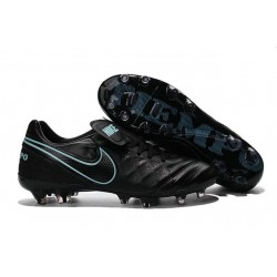 Nike Tiempo Legend 6 ACC FG Kangaroo Leather Cleats Black Blue