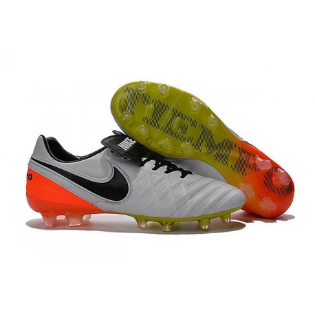 promo code 3e595 154fd Nike Tiempo Legend 6 ACC FG Kangaroo Leather Cleats White Black Orange