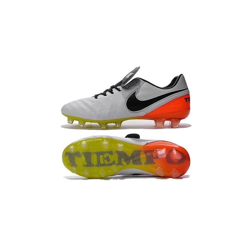 promo code 82e72 b3567 Nike Tiempo Legend 6 ACC FG Kangaroo Leather Cleats White Black Orange
