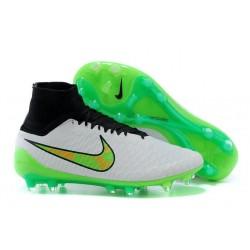 Nike Magista Obra FG ACC Mens Football Shoes White Green Black