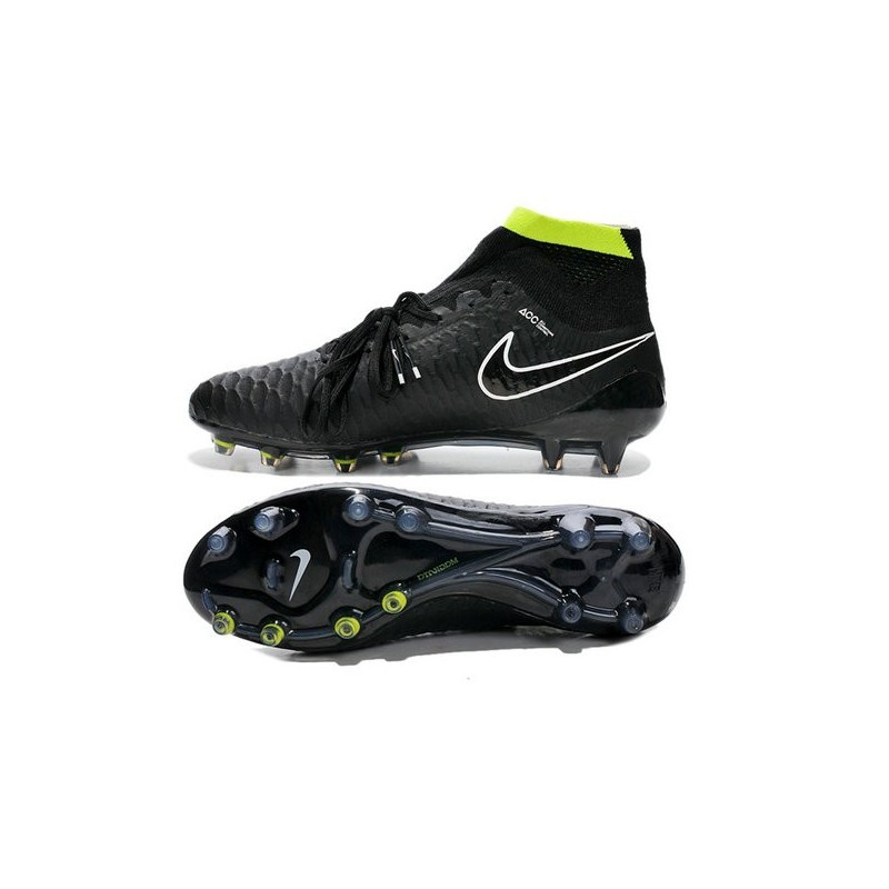 low priced ea9a8 9f21c Nike Magista Obra FG ACC Mens Football Shoes in Black White