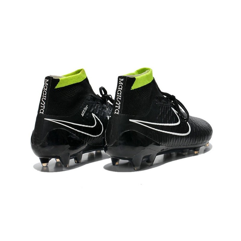... nike magista obra fg acc mens football shoes in black white